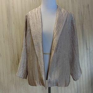 Eileen Fisher Champagne Silk Jacket medium